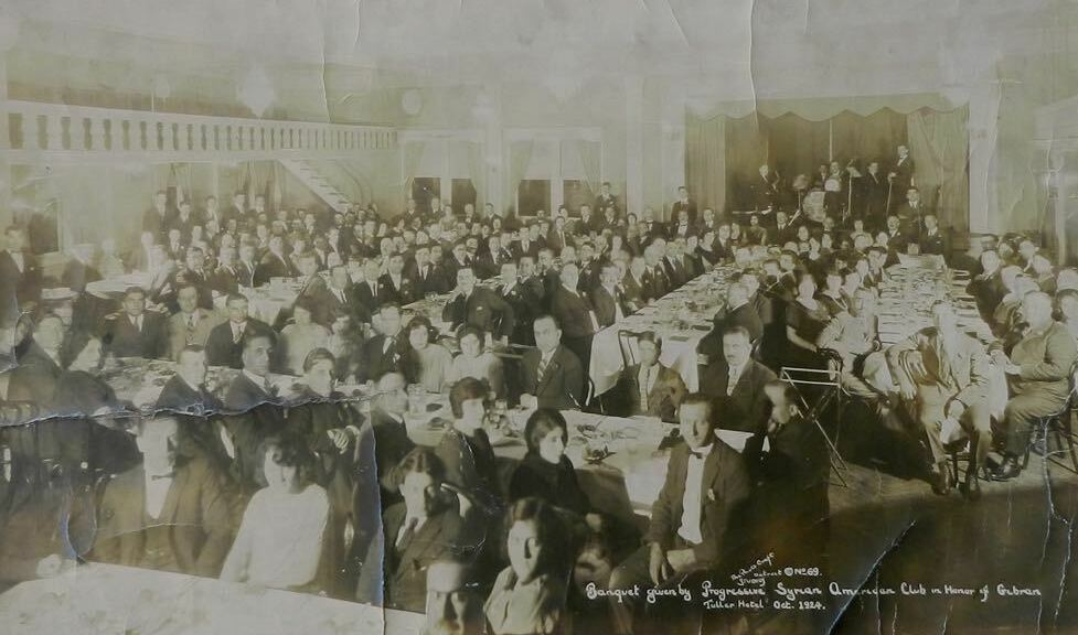 Banquet given by Progressive Syrian American Club in honor of Khalil Gibran October 1924