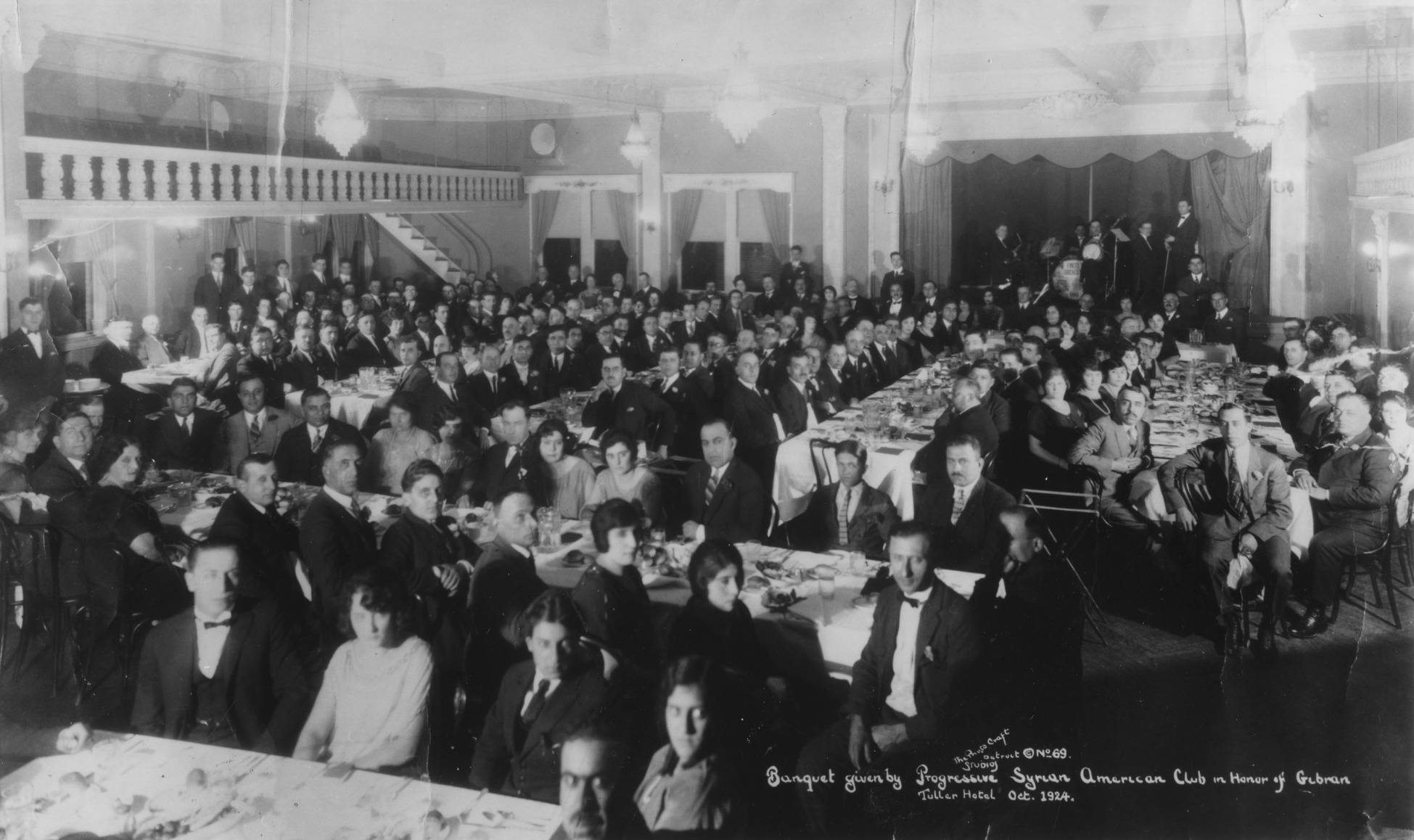 Banquet given by Progressive Syrian American Club in honor of Khalil Gibran October 1924 Smithsonian Institution