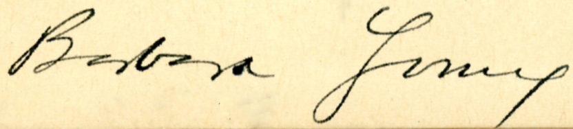 1932 barbara young signature