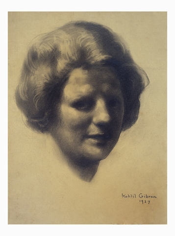 Portrait of Julia Ellsworth Ford by Gibran 1927 - Gibran National Committee