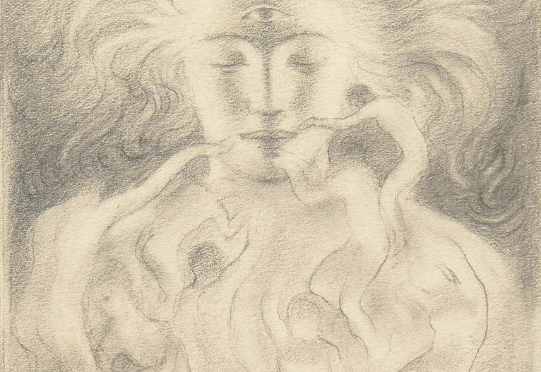 Kahlil Gibran Untitled Drawing (Third Eye)