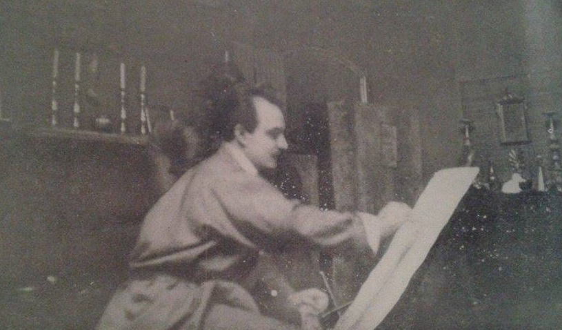 Gibran in his studio c1926
