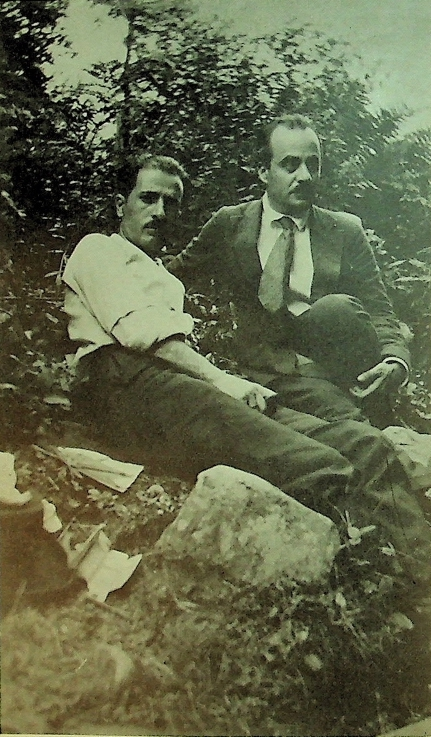 Gibran with Naimy at Cahoonzie in 1921
