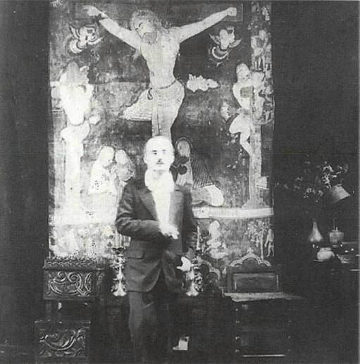 Kahlil Gibran and his Armenian Tapestry inside The Hermitage.