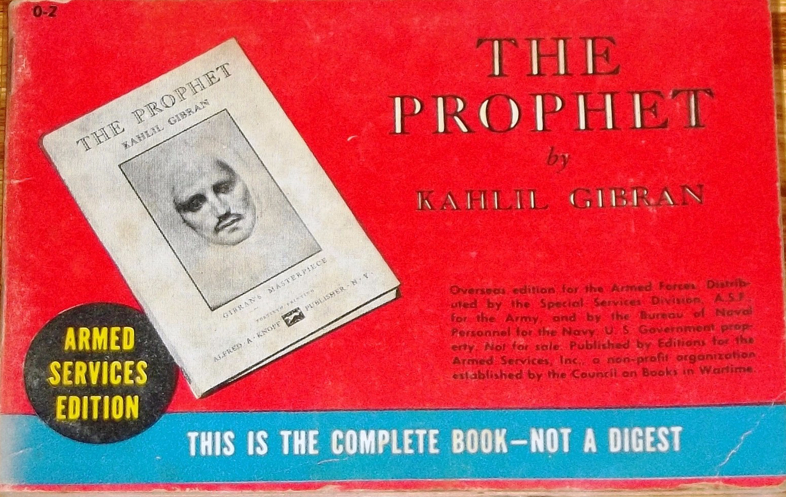 Armed Services Edition The Prophet Council of Books in Wartime 1943-47