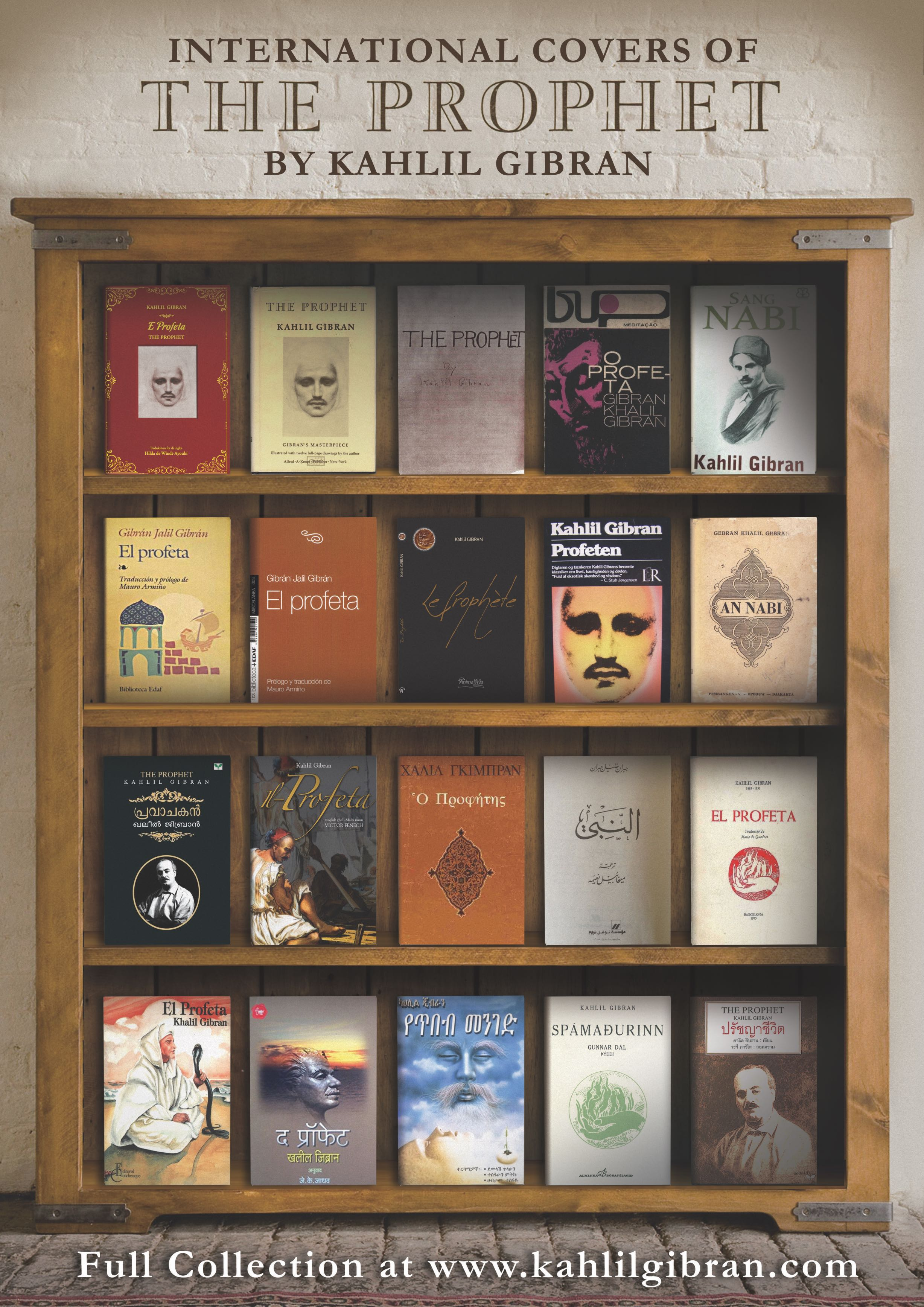 International Book Covers of the Prophet - Photo: The Kahlil Gibran Collective