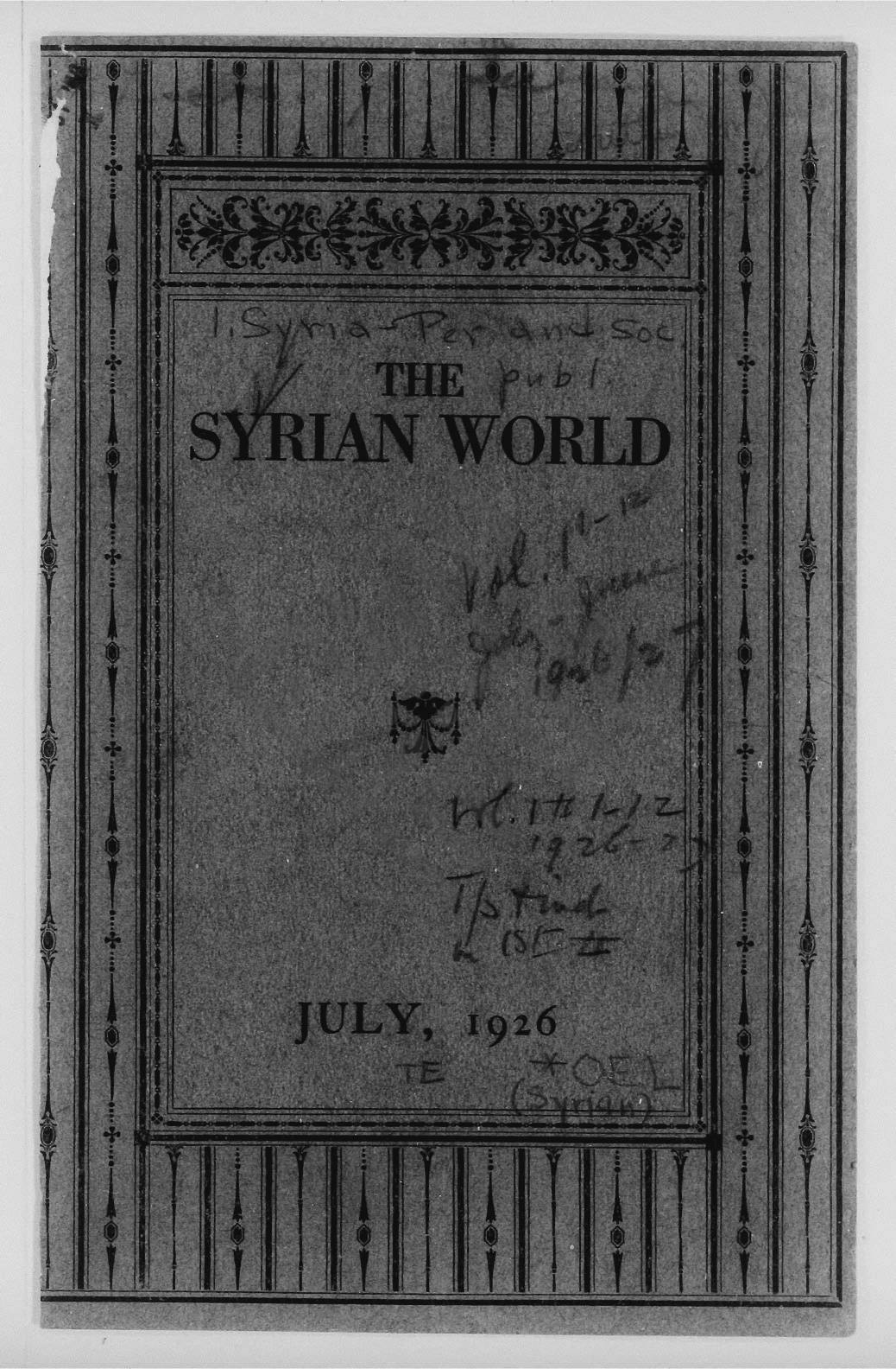 To Young Americans of Syrian Origin [Essay], Mohammed, Prophet of Islam [Drawing], The Syrian World (July 1926)