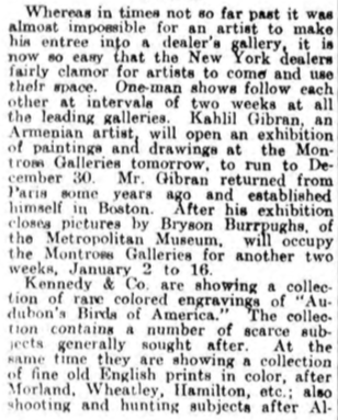 "Art World Calm During Holidays, ""The Philadelphia Inquirer"", 13 Dec. 1914."