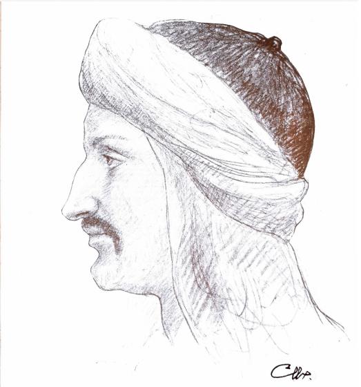 al-Hakiman [Short Story], Bayna al-Fasl wa-al-Fasl [Short Story], Ibn al-Muqaffa` [Drawing], al-Funun 3, no. 4 (November 1917)