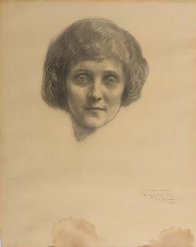 "Portrait of Mrs. Bainbridge Colby by Kahlil Gibran (1922), in ""Teachers Activity Guide: What is a Portrait?"", Doha: Arab Museum Of Modern Art, 2014-2015."