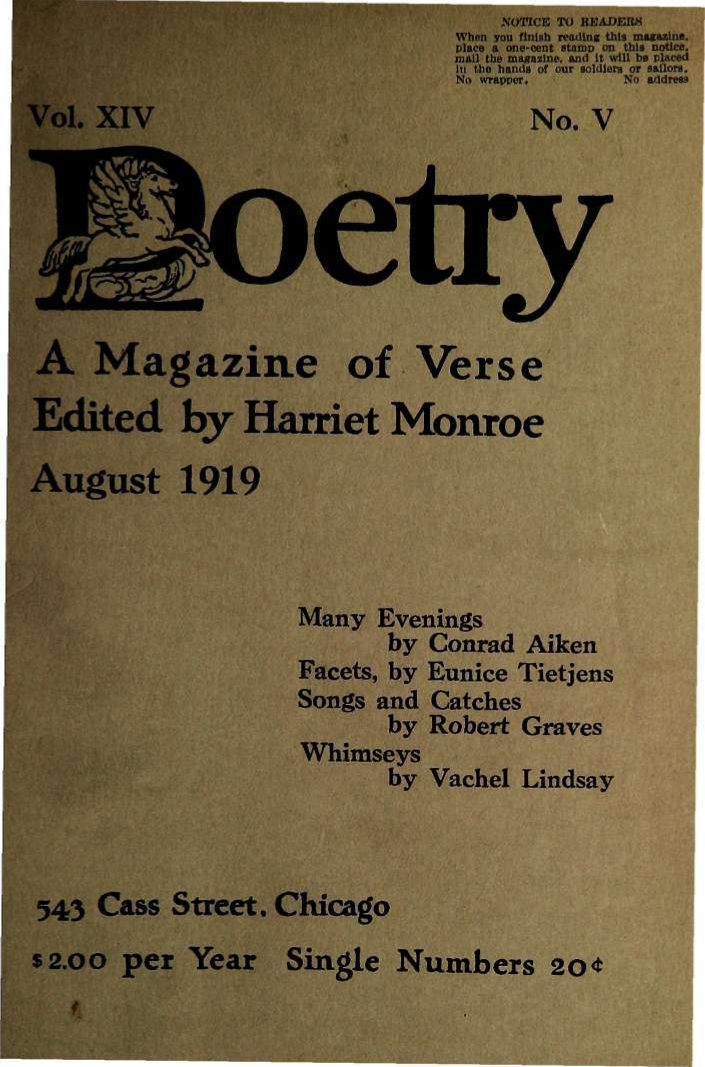 "Harriet Monroe, ""The Madman, by Kahlil Gibran"" (review), Poetry, Vol. XIV, No. V, August, 1919, pp. 277-279."