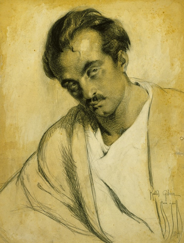 Rose Cecil O'Neill, Portrait of Kahlil Gibran, 1914.