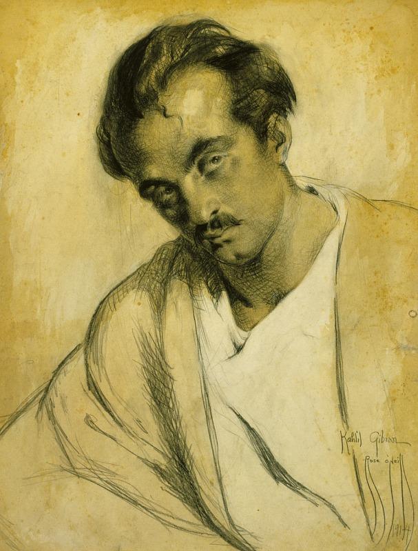 Rose Cecil O'Neill, Portrait of Kahlil Gibran, 1914.