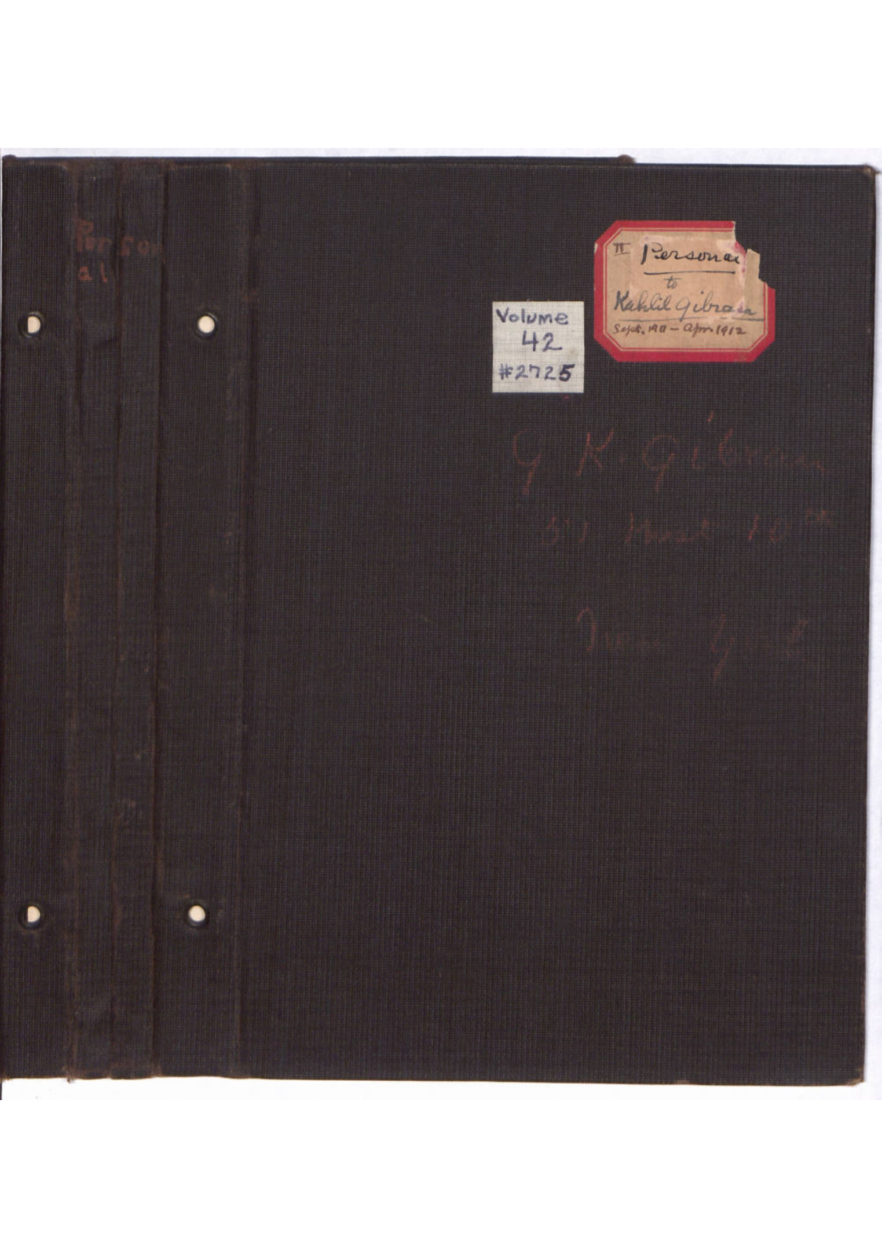 Mary Haskell Minis, Diary, September 1911-April 1912 [Folder 227]