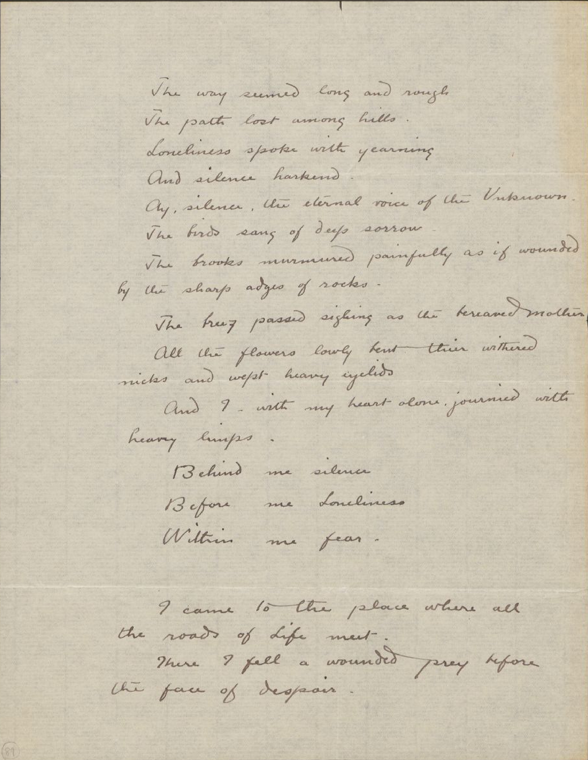 The Way Seemed Long and Rough (Unpublished Manuscript), Josephine Preston Peabody papers