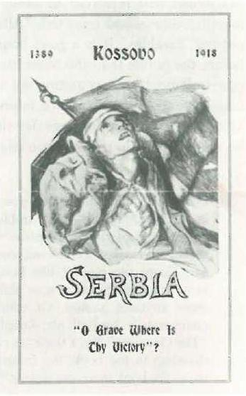 """Defeat, My Defeat, in Serbia. """"O Grave Were Is Thy Victory""""? [pamphlet], privately printed, 1918."""