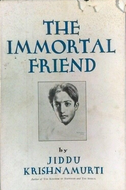 Jiddu Krishnamurti, The Immortal Friend, Dust Jacket Portrait by Kahlil Gibran, New York: Boni & Liveright, 1928.