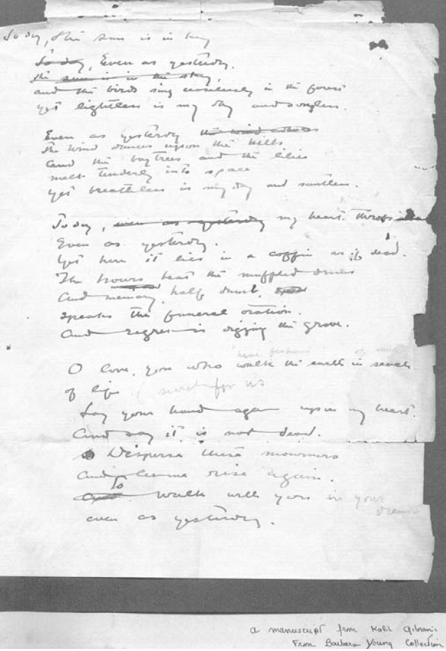Today Even As Yesterday - Unpublished Manuscript (Barbara Young Collection)