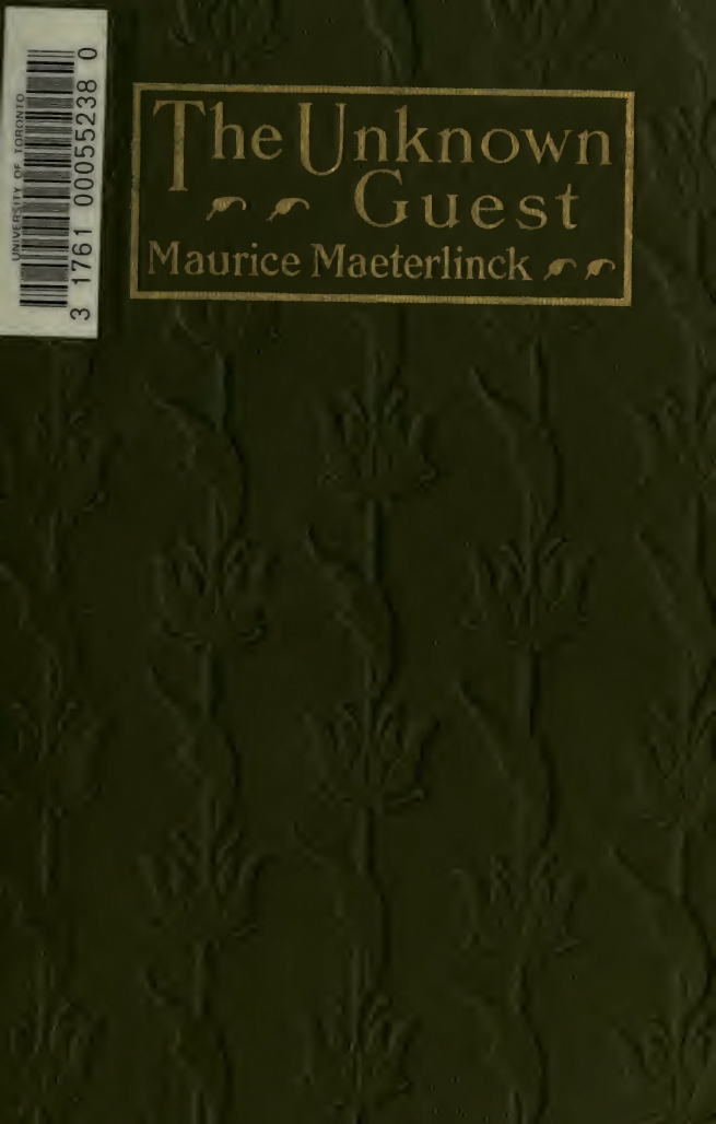 Maurice Maeterlinck, The Unknown Guest, cover design by Kahlil Gibran, New York: Dodd, Mead and Co., 1914.